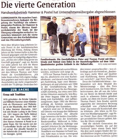 Rheinpfalz 030211 Generationswechsel